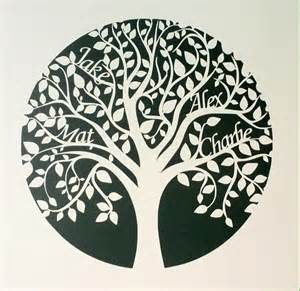 Paper Cut Family Tree Template by Unique Circular Personalised Paper Cut Family Tree