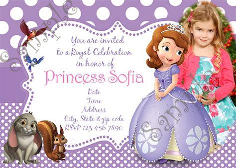 sofia   birthday party invitation  birthday