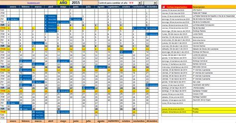 Calendario Excel 2015 Calendario 2015 Horizontal Calendar Template 2016