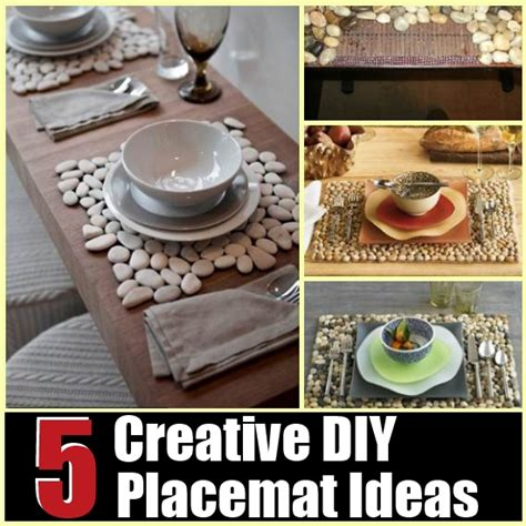 creative diy home decorating ideas 5 creative diy placemat ideas diy home things