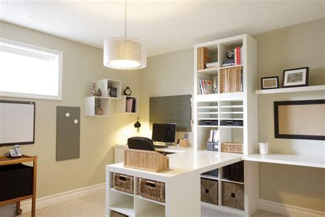 Ikea Kallax Arbeitszimmer by Ikea Kallax Home Office Traditional With Built In White