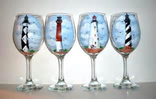 Custom handpainted wine glasses by sharonscustomartwork on etsy