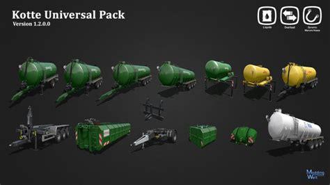 kotte universal pack kotte universal pack v1 2 mod mod for landwirtschafts