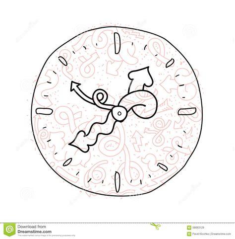 doodle time designs doodle clock icon design stock vector
