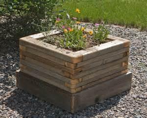 reclaimed stacked wood planter 1 custom by rushton llc