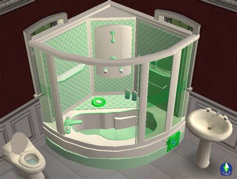 mod the sims corner bath and shower unit now fully