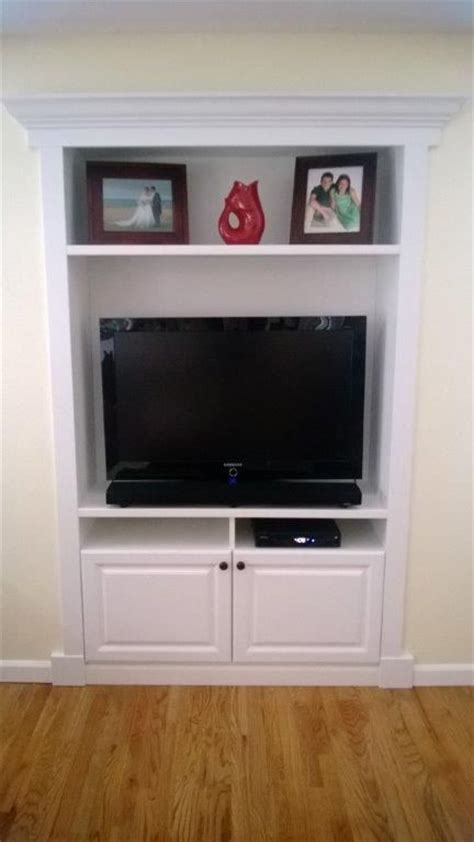 built in tv cabinet with doors woodworking projects plans