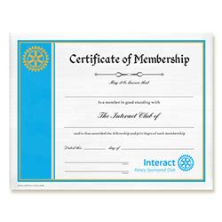membership certificate templates rotary interact certificate of membership rotary club