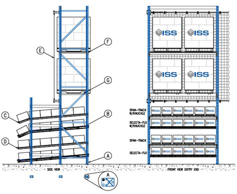 Flow Rack Systems by Iss Flow Rack With Overhead Storage