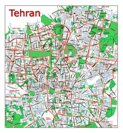 tehran map tehran map