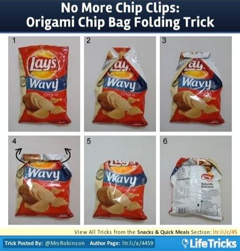 Crisp Packet Origami - 25 best ideas about chip bag folding on fold