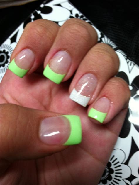 Acrylic Nail Tips by Mint White Glitter Tips Acrylic Nails My Pins