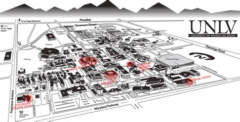 unlv map unlv libraries cus map with locations of libraries