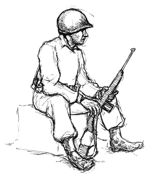 coloring pictures of army man an army man sitting with carbine coloring pages bulk color