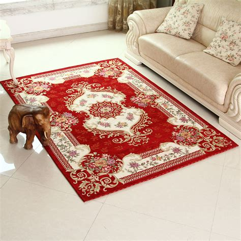 160 230 Cm Red Area Rugs For Home Rural Flower Floor Decorative Rugs For Living Room