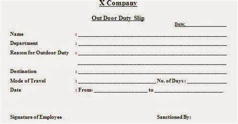 format date gwt outdoor duty slip format in word