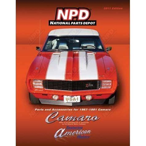 2011 Edition Of National Parts Depot Camaro Catalog