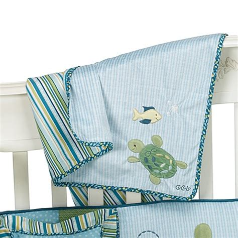 Turtle Reef Baby Crib Bedding By Cocalo Buy Cocalo Baby 174 Turtle Reef Sherpa Baby Blanket From Bed Bath Beyond