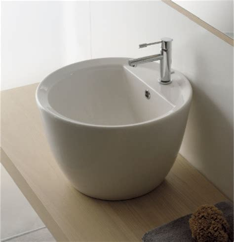 Modern Bathroom Sink Bowl Bowl Shaped Contemporary Vessel Sink By Scarabeo