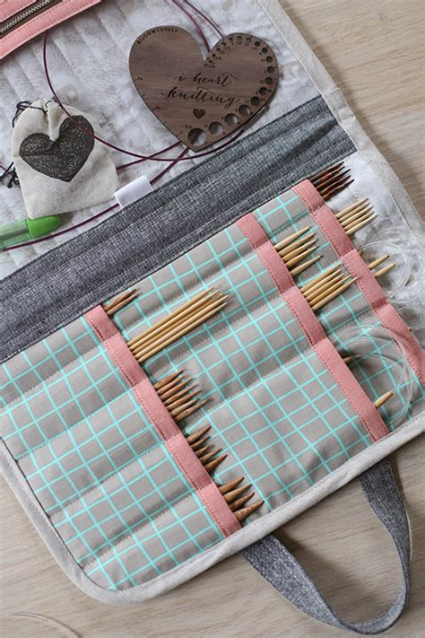 knitting pattern knitting needle case road trip case for knitting noodlehead