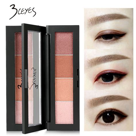 Review Eyeshadow Matte Sariayu 3ceyes 4 colors smooth shimmer matte eyeshadow pigment cosmetic glitter sweet eye makeup