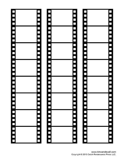 Blank Film Strip Template for a Photo Collage or Movie Poster