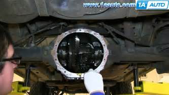Jeep Liberty Rear Axle How To Install Replace Rear Differential Cover 2002 07