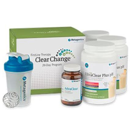 Metagenics 28 Day Detox Diet by Metagenics Clear Change 28 Day Detox Program With