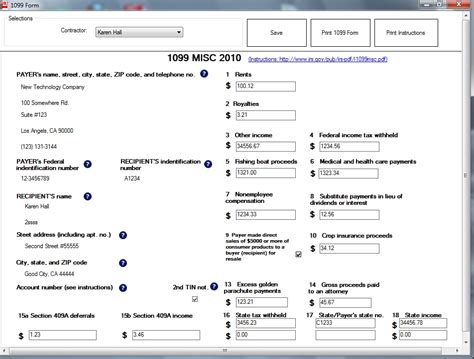 how to fill out and print 1099 misc forms
