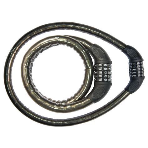 Spiral Lock Eterna Bicycle Lock spiral cable lock trendy combination 18 x 900mm black brn