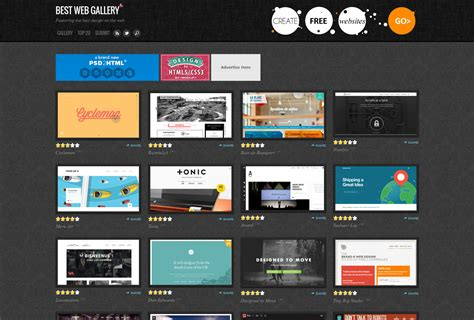 html design gallery inspirational websites with responsive design ugurus