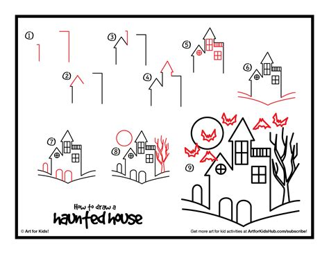 how to draw a haunted house easy haunted house drawings how to draw a haunted house chainimage