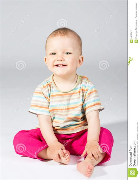 baby eleven months stock photo image 54285437