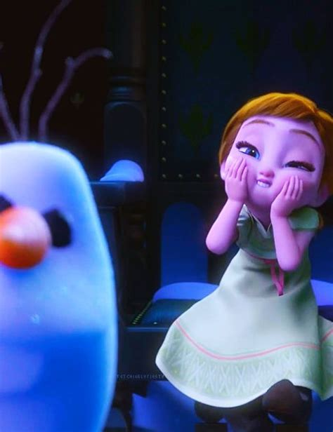 film frozen young lengkap anna is cute but olaf just creeps me out in this picture