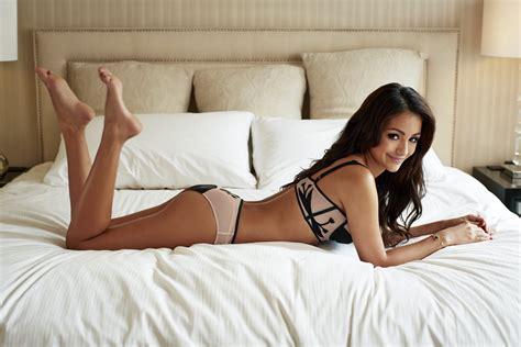 sexy women in bed women feet legs melanie iglesias bed panties