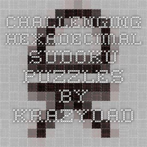 printable hexadecimal sudoku 1000 images about sudoku puzzles on pinterest sudoku