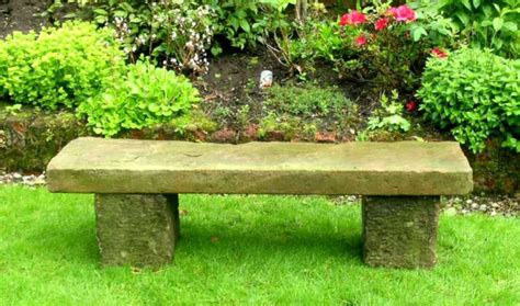 landscape bench stone seats and benches in the garden