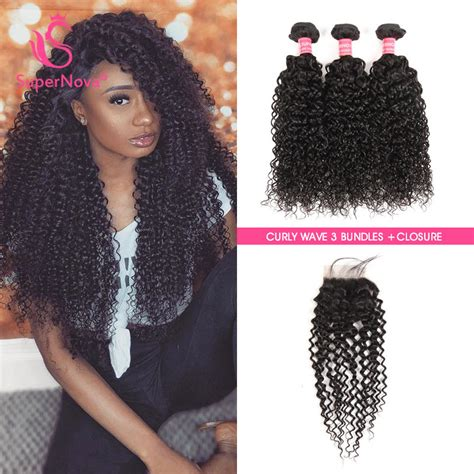 all on one weave hair styles human hair curly weave 3 virgin hair bundles with closure
