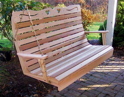 childs or garden bench cedar log pecan legs by jamesrobinson red cedar royal sweetheart highback porch swing swings to build or buy pinterest