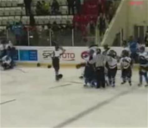 hockey bench clearing brawls insane bench clearing brawl breaks out during turkish hockey game video total pro