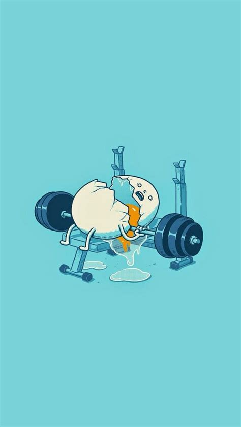 wallpaper iphone 5 fitness tap and get the free app art creative funny gym egg blue