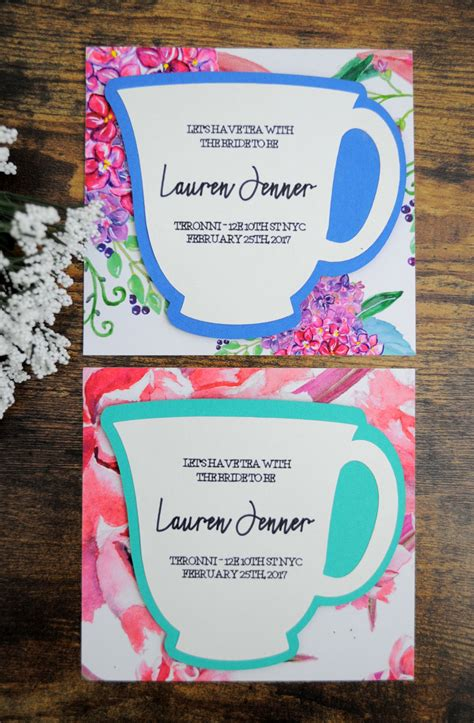 diy bridal shower tea invitations diy design ideas
