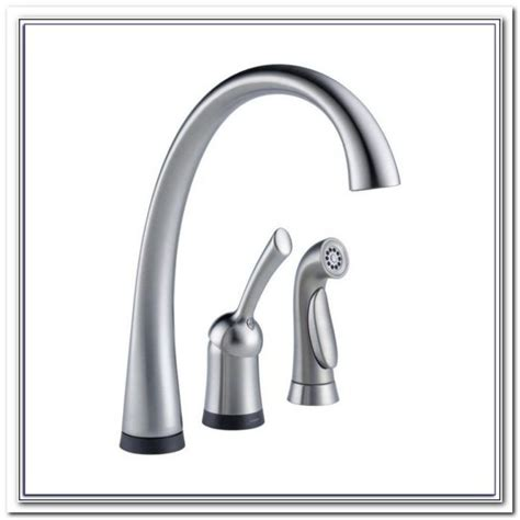 delta no touch kitchen faucet delta touch faucet no water sink and faucet home
