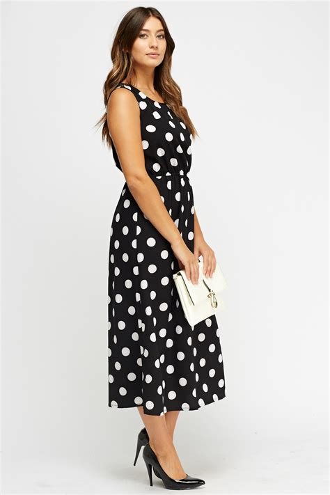 Midi Dress Polkadot Simple polka dot midi dress just 163 5