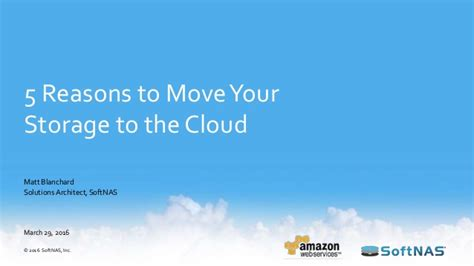 reasons to move to 5 reasons to move your storage to the cloud