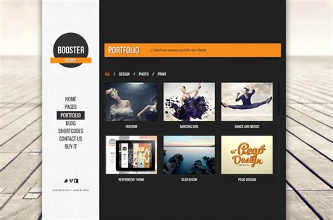 themes slideshow wordpress boosterius responsive one page slide wordpress theme by