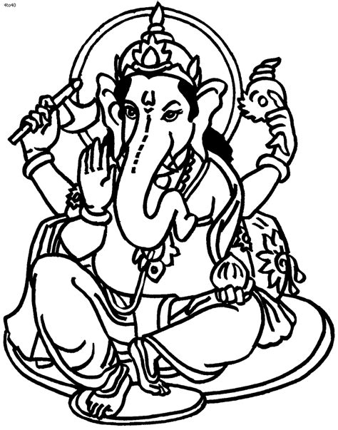 Ganpati Coloring Pages www ganpati drawing image clipart best