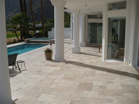 cafe light versailles pattern landscape paver pool patio