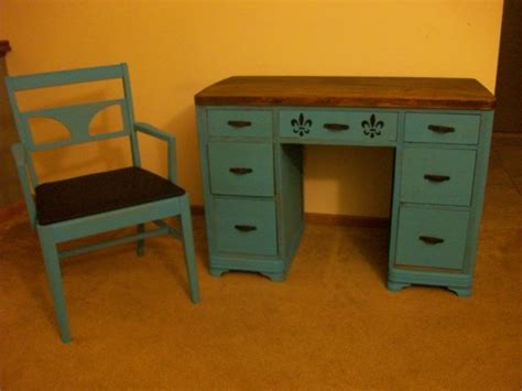 Refinish Desk by Refinished Desk And Chair Set Angelena S Furniture