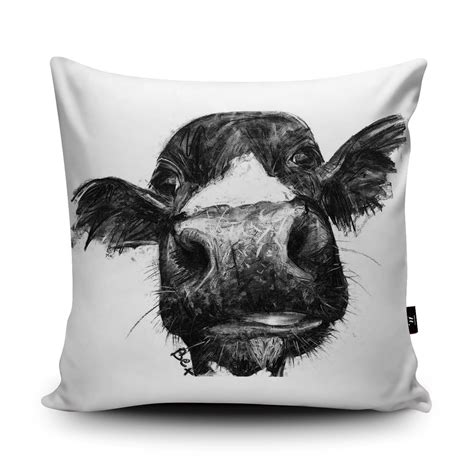 Cow Pillow by Cow Cushion Cow Pillow Farm Animal Cushion Black White Cow